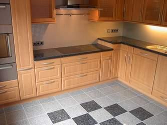Küche mit Marmor
